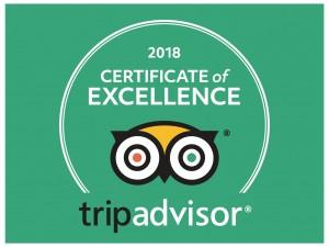 2018 certificate trip advisor